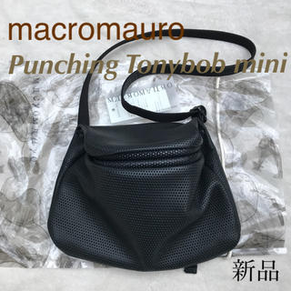 macromauro - 定3.1万✱マクロマウロ✱パンチングレザーバッグ トニーボブ ミニ✱黒 ブラック