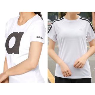 adidas - 新品 adidas アディダス Tシャツ 半袖 レディース S 白 ホワイト