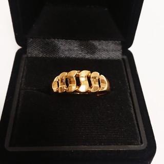 K18   ゴールド  金  指輪  リング   喜平 デザイン