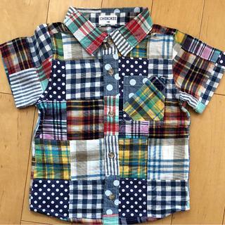 西松屋 パッチワーク半袖シャツ 100cm