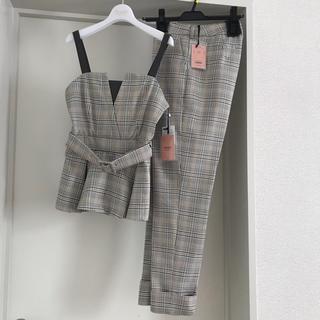 eimy istoire - 今期SS♡チェック柄セットアップ