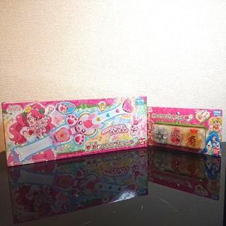 BANDAI - 新品!プリキュア:キュアタッチ変身ヒーリングステッキ&エレメントボトルセット