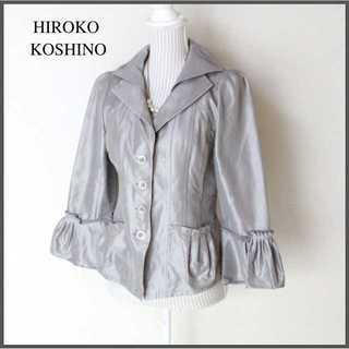 ヒロココシノ(HIROKO KOSHINO)のヒロココシノ★光沢 テーラードジャケット 40(L) ミセス パーティー (テーラードジャケット)