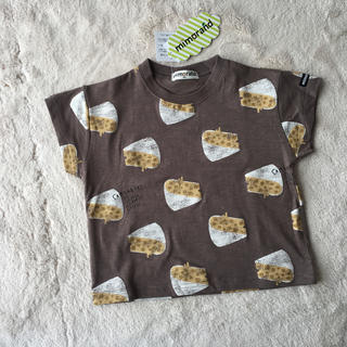しまむら - ミモランド チーズ総柄Tシャツ 90