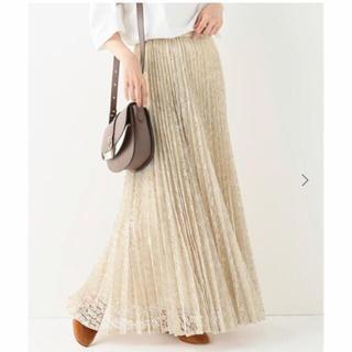 IENA - 【IENA】レオパードフラワーレースプリーツスカート 36サイズ