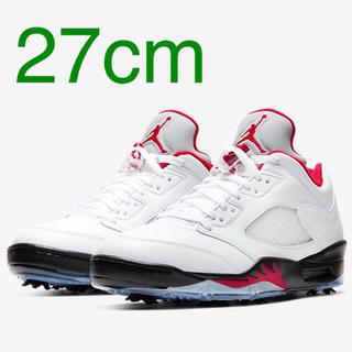 NIKE - nike jordan5 fire red golf 27cm 送料込み