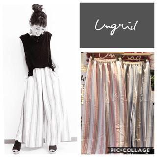 Ungrid - Ungrid**ストライプワイドパンツ