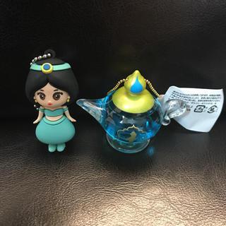 Disney - Disney アラジンと魔法のランプ オイルチャームとジャスミンキーホルダー