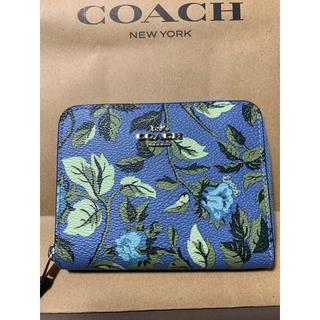 COACH - coachの財布(青花柄)