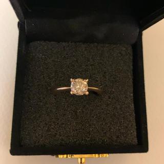 アーアゼロワンダイヤモンド1粒0.8ctsize12号ファンシーカラー