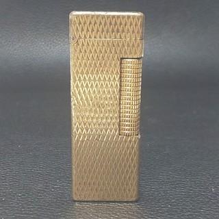 ダンヒル(Dunhill)のダンヒル ライター ローラガス ダイヤカット ゴールド(タバコグッズ)