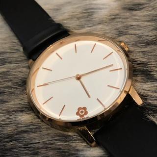 MARY QUANT - 【MARY QUANT】腕時計/時計/ウォッチ/黒/ピンクゴールド/非売品
