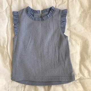 petit main - 【petit main】カットソー 水色 80  Tシャツ