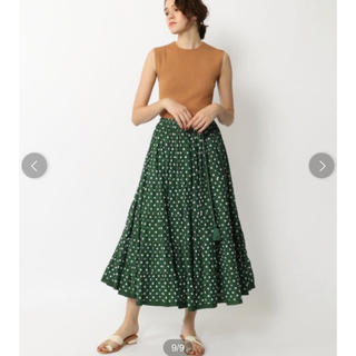 TOMORROWLAND - MARIHA×TOMORROWLAND ドットプリントロングスカート