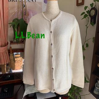 L.L.Bean - L.L.Bean エルエルビーン 大き目 コットン 100% カーディガン L