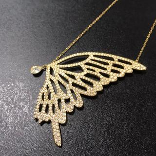 SWAROVSKI - SWAROVSKI コールド ネックレス 蝶々 ちようちょう