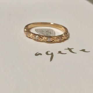 agete - アガット K10 ダイヤモンド リング 指輪 11号 agete
