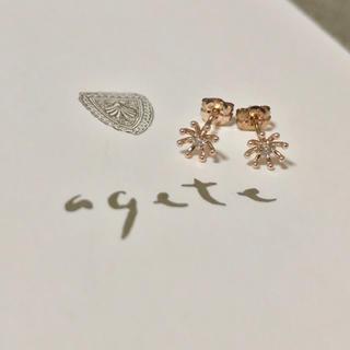 agete - アガット K10 ダイヤモンド フラワー ピアス agete