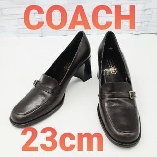 COACH - 【COACH】コーチ パンプス ダークブラウン 23cm