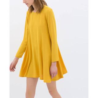 ザラ(ZARA)のyellow dress(ミニワンピース)