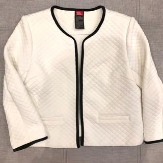 DOUBLE STANDARD CLOTHING - 美品❣️ダブルスタンダード バイカラー パイピング ジャケット 白 38