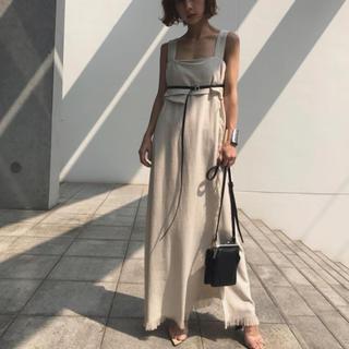 Ameri VINTAGE - アメリヴィンテージ SLENDER BELT FRINGE DRESS