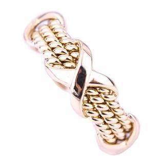 ティファニー(Tiffany & Co.)のティファニー シュランバーゼ 3ロウ ロープ リング 指輪 K18 YG(リング(指輪))