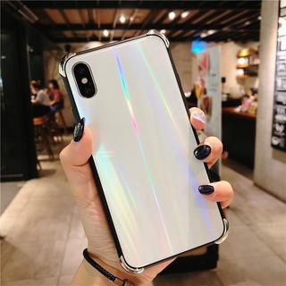 【大人気商品!】オーロラ スマホケース iPhoneケース ホワイト