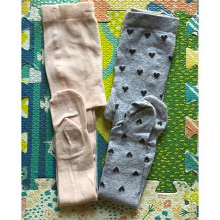エイチアンドエム(H&M)の未使用 H&Mキッズタイツ二枚組(靴下/タイツ)