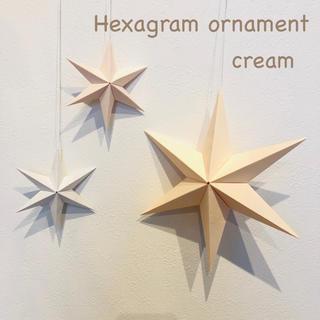 cream☆Hexagram ornament ナチュラル イースター(モビール)