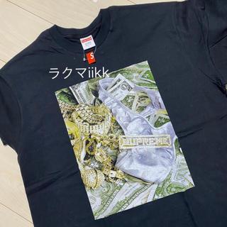 Supreme - L 黒 Bling Tee 宝石