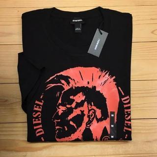 DIESEL - 新品【メンズM】★ディーゼル★ブレイブマン!ロゴプリント半袖Tシャツ/黒