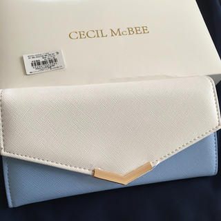 CECIL McBEE - 新品 セシルマクビー 内側花柄 長財布 ウォレット ブルー