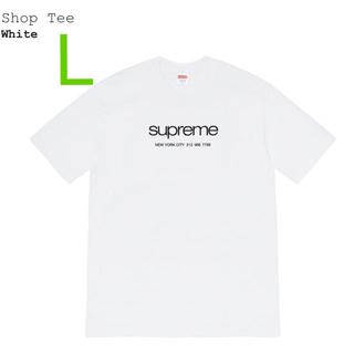 Supreme - L Supreme Shop Tee White シュプリーム Tシャツ