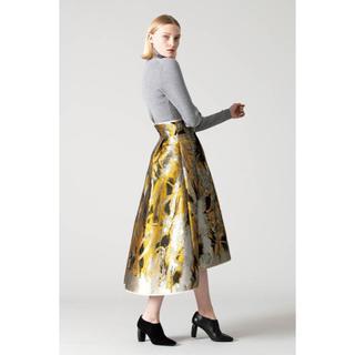 アドーア(ADORE)の美品 ADORE ペインティングジャガードフレアースカート 2019AW(ロングスカート)
