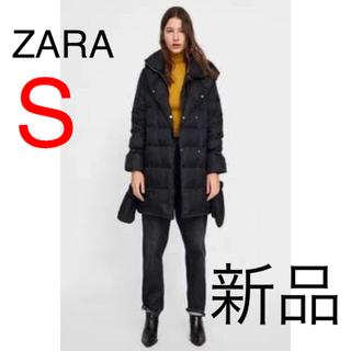ザラ(ZARA)の【ZARA】新品未使用タグ付き★ラップ風ハイネックダウンジャケット♡S(ダウンコート)