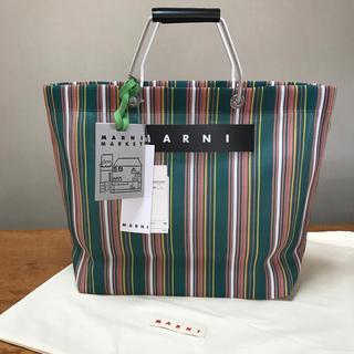 Marni - 新品 MARNI マルニ フラワーカフェ グリーン トートバッグ かごバッグ