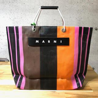 Marni - 新品 MARNI マルニ フラワーカフェ トートバッグ マルチピンク メッシュ
