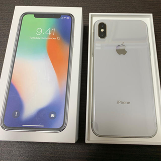 アイフォーン(iPhone)の⚠️kokoroさん専用⚠️iPhonex silver64GB SIMフリー(スマートフォン本体)