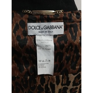 ドルチェアンドガッバーナ(DOLCE&GABBANA)の美品☆Dolce&Gabbana 裏ヒョウ柄 コ─ト(ロングコート)
