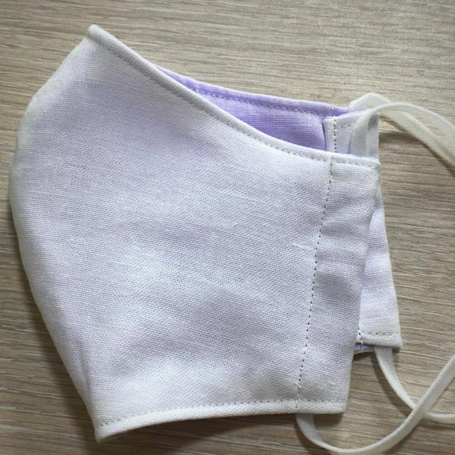 大人用 立体マスク 白/薄紫の通販