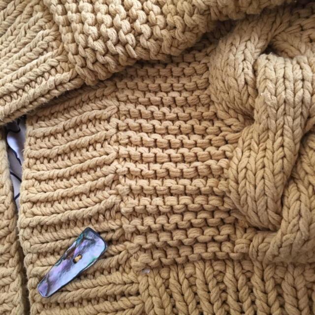 SeaRoomlynn(シールームリン)のsearoomlynn ハンドニットフーディジャケット  レディースのジャケット/アウター(ニットコート)の商品写真