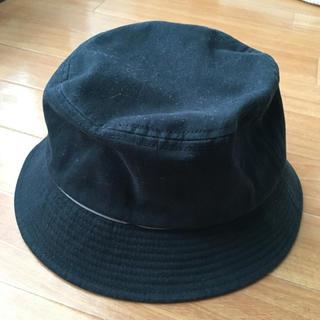 MUJI (無印良品) - 帽子 綿100% 56cm 無印 黒