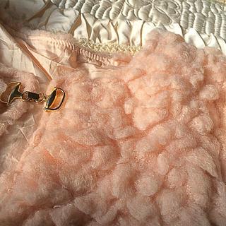 ロキエ(Lochie)の🔻vintage  Flamingo boa  jacket🍥(ノーカラージャケット)