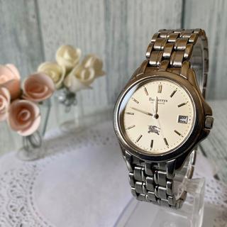 BURBERRY - 【動作OK】BURBERRY バーバリー  腕時計 メンズ ボーイズ シルバー