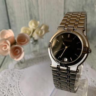 Gucci - 【電池交換済み】GUCCI グッチ 腕時計 9100M ブラック シルバー