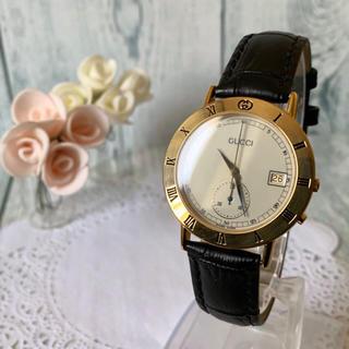 Gucci - 【美品】GUCCI グッチ 3800M 腕時計 ワンプッシュクロノグラフ