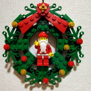 Lego - レゴ★クリスマス リース サンタ付 オリジナル 100%レゴパーツ 人気