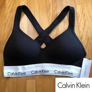 Calvin Klein - カルバンクライン S ブラ インナー 下着 ブラレット パッド カップ ブラック
