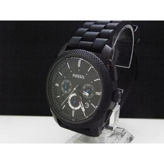 フォッシル(FOSSIL)のFOSSIL クロノグラフ腕時計 ブラック デイト 24H(腕時計(アナログ))